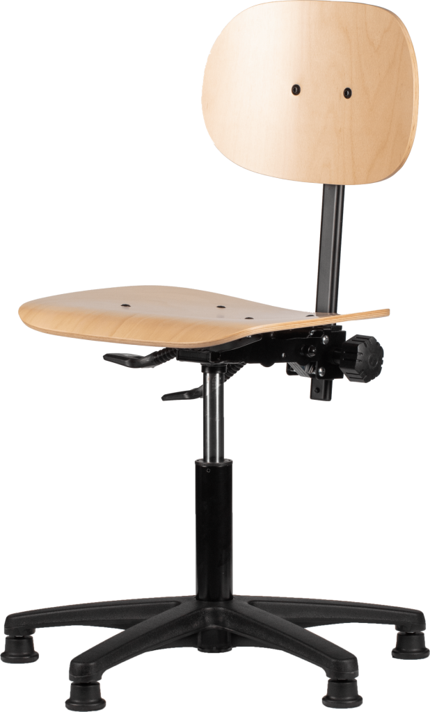 Rodachair H 160 houten werkstoel