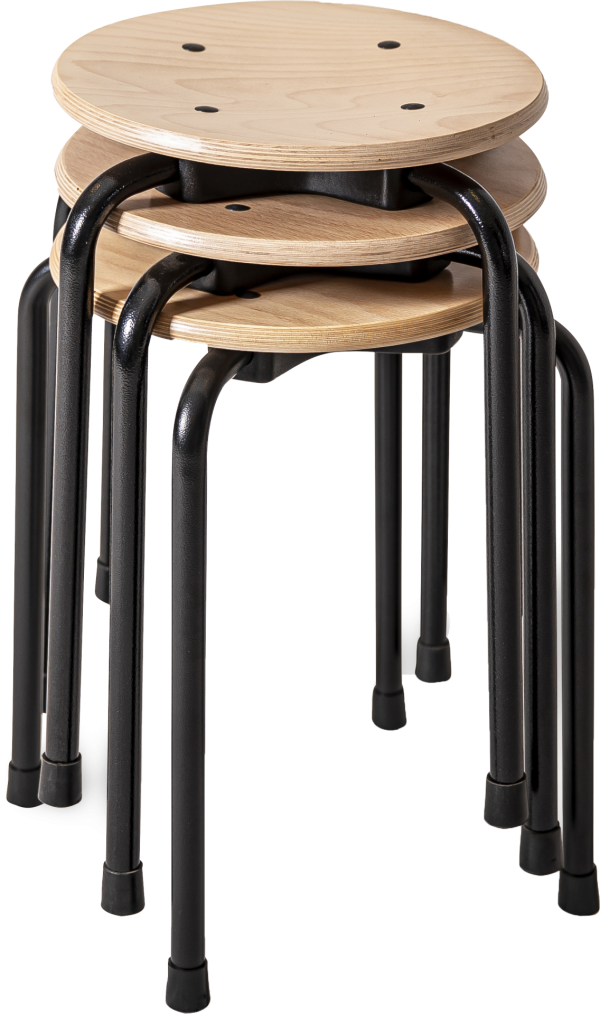 Rodachair TAH 45 stapelbare taboeret kruk hout