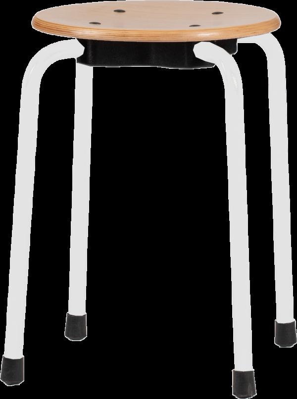Rodachair stapelbare taboeret kruk houtTAH 45