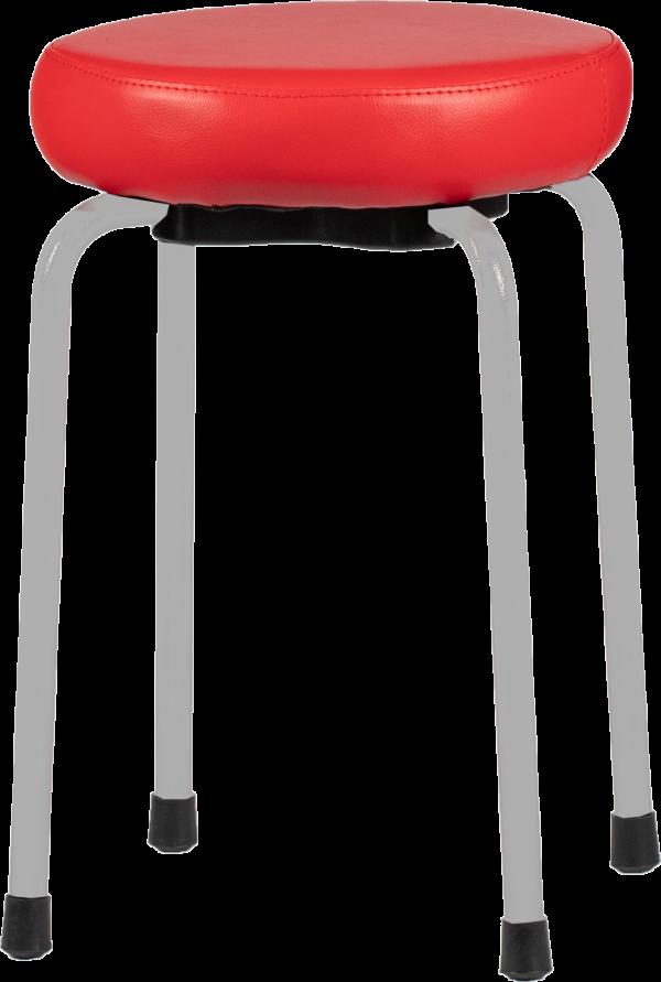 Rodachair TAS 45 stapelbare taboeret kruk kunstleder gestoffeerd
