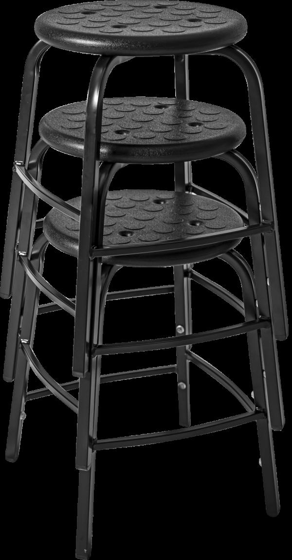 Rodachair TAP stapelbare taboeret kruk verspringende voetensteun PUR